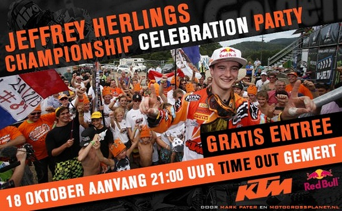 Huldiging Jeffrey Herlings World Championship Celebration Party