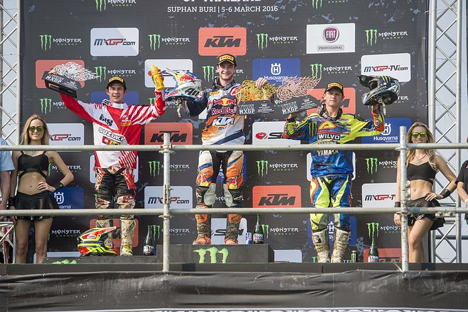 Jeffrey Herlings wint MX2 GP van Thailand