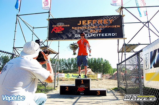 Jeffrey Herlings winnaar open NK Axel & Nederlands Kampioen MX2 2012